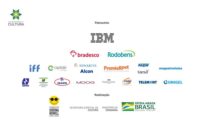 Descrição da imagem: logotipos dos patrocinadores.