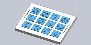 jogo de tabuleiro em braille